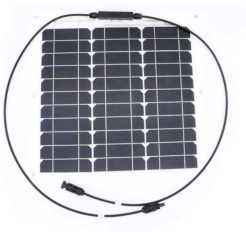 placa fotovoltaica 30W 12V flexible Panel Solar de batería SunPower celda Ultra Thin