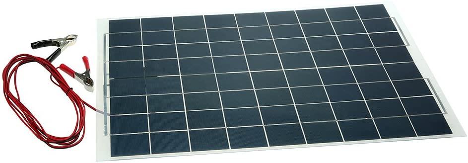placa fotovoltaica flexible KKmoon 30W 12V Panel Solar Semi Flexible