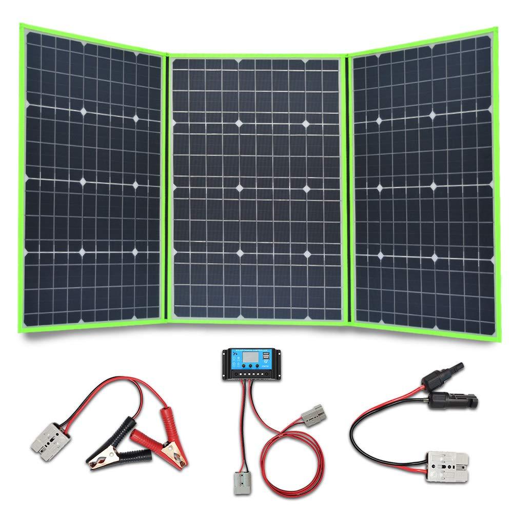 XINPUGUANG 150W (3X 50W) Panel solar plegables 12v Monocristalino Silicona Flexible Cargador Solar para 12V Batería Camper Canvan Camping Senderismo