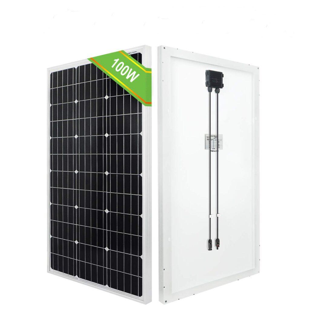 ECO-WORTHY panel solar monocristalino de 100 W 120 W 12 V para caravana, barco, hogar, jardín
